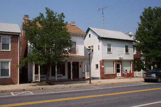 Rowes Furniture Right had building was Shuffs Funeral house and furniture store.